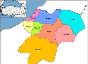 artvin haritası