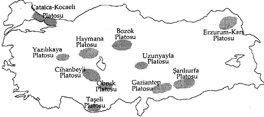 Türkiye'deki Platolar ve Ovalar