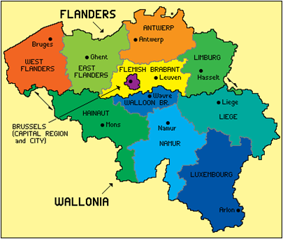belcika_federal_bolge_haritasi