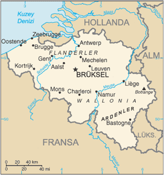 Belçika Haritası