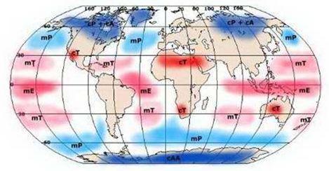 Hava Kütlerinin Dünya Üzerinde Bulunduğu Bölgeler