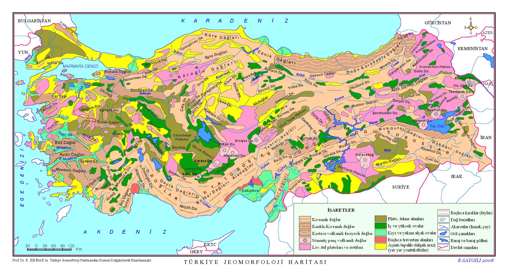 Türkiye Jeomorfoloji Haritası